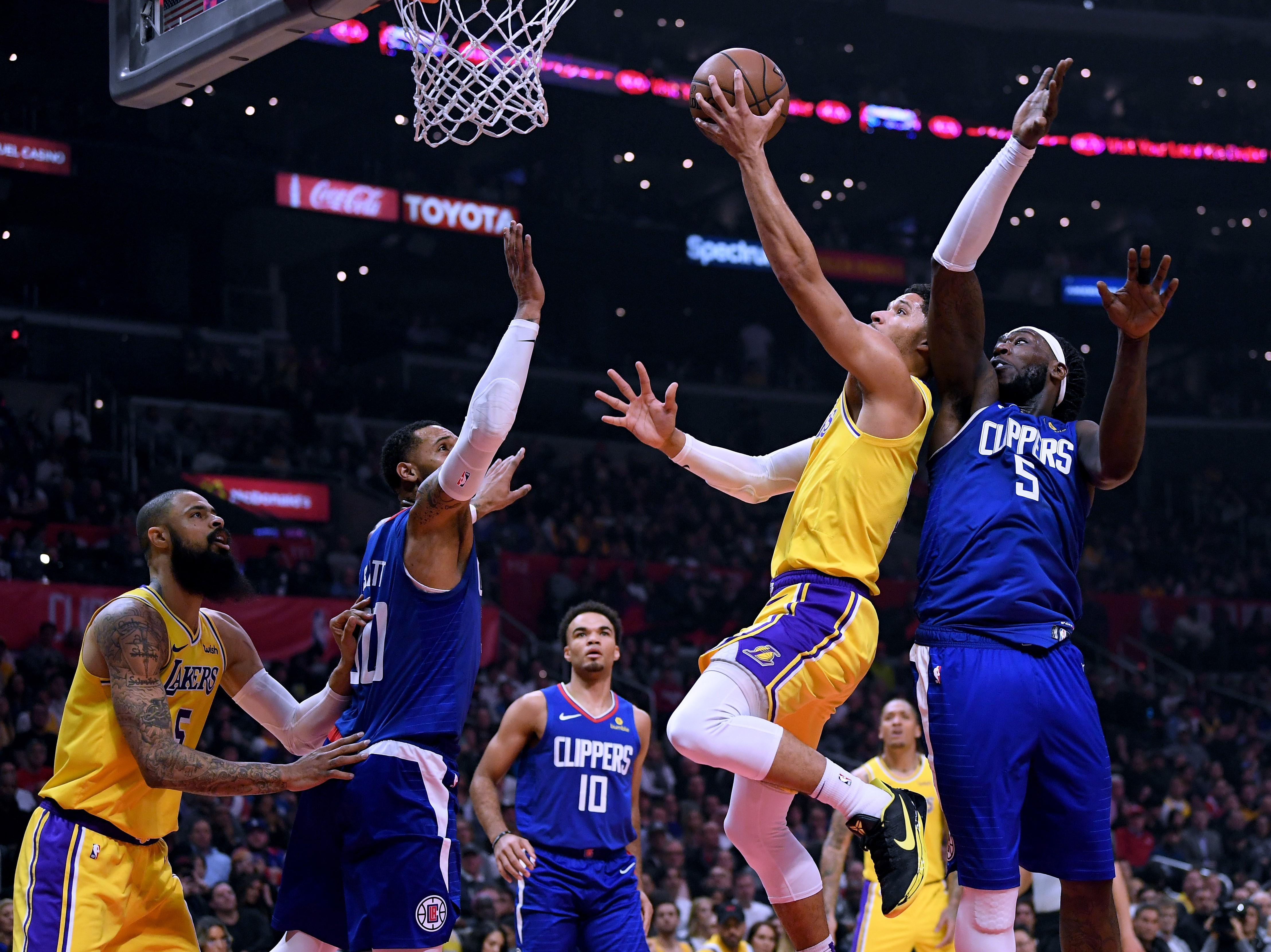 Josh Hart lors de Los Angeles Lakers - LA Clippers en NBA le 31 janvier 2019