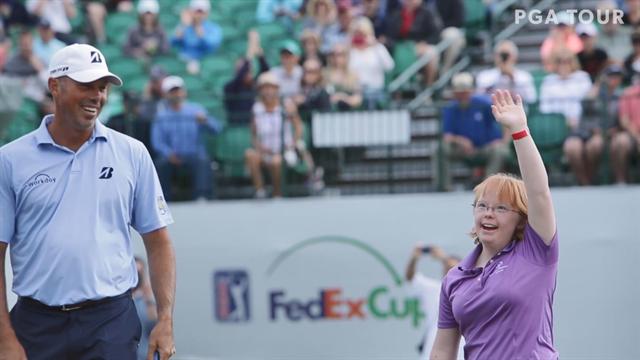 Amy Bockerstette imponerer på golfbanen