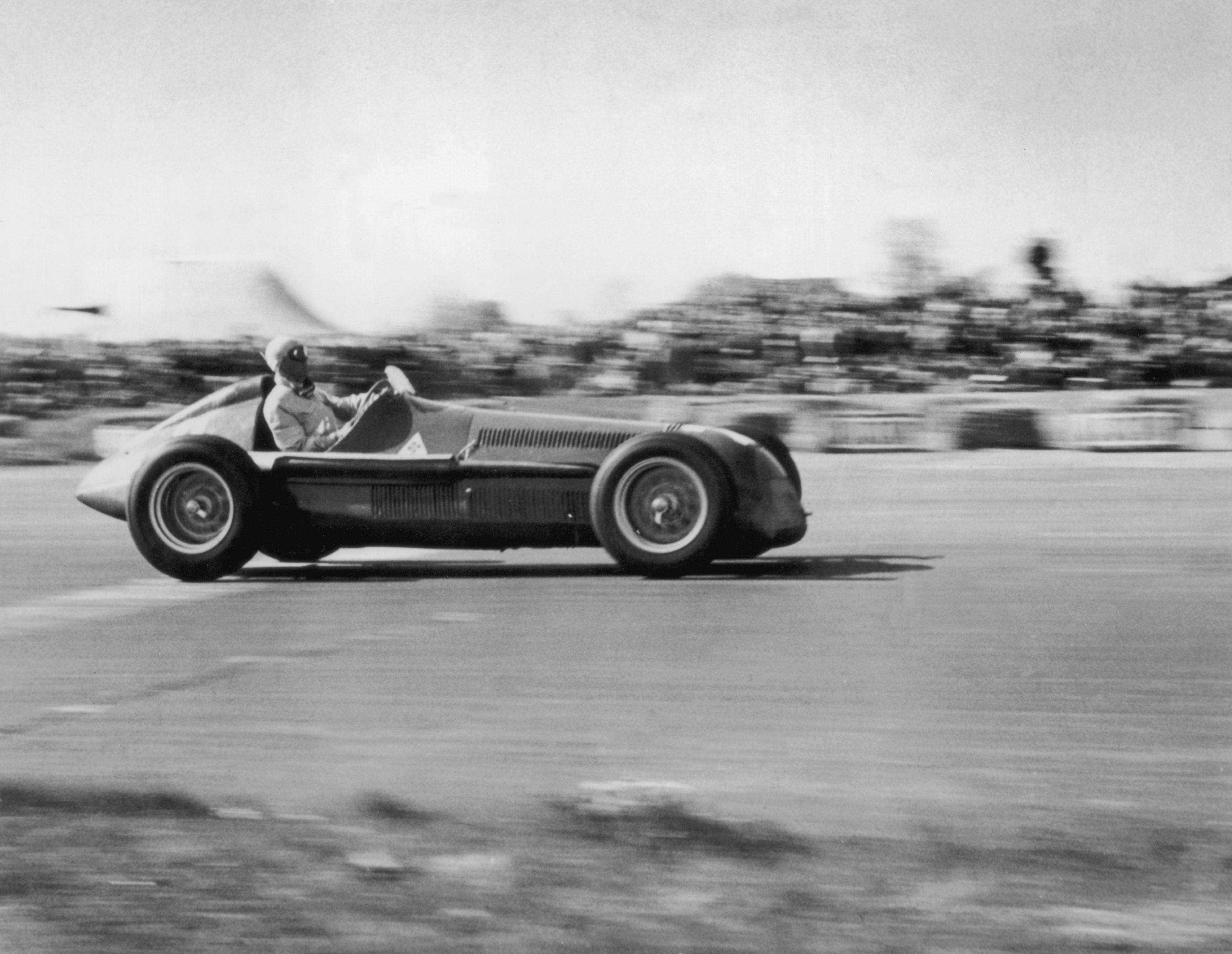 Giuseppe Farina (Alfa Romeo) au Grand Prix de Grande-Bretagne 1950