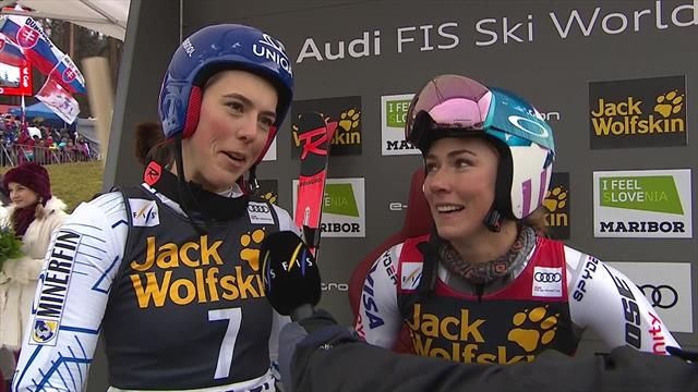 'We can share!' - Shiffrin and Vlhová react to Giant Slalom tie in Maribor