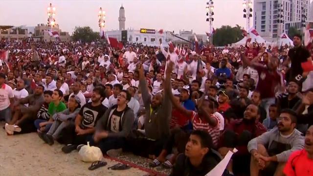 Qatar fans celebrate their Asian Cup title