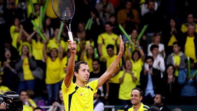 Galán derrota a Mikael Ymer y Colombia vence 2-0 a Suecia en la Copa Davis