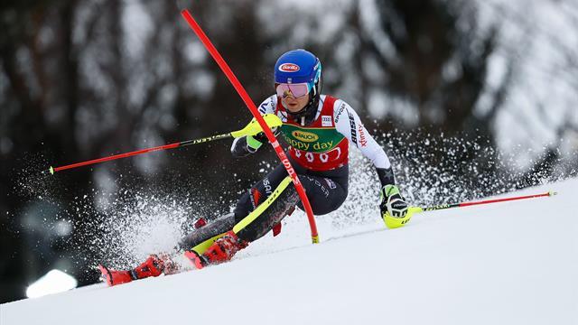 Watch Shiffrin lay down sublime first run in Maribor