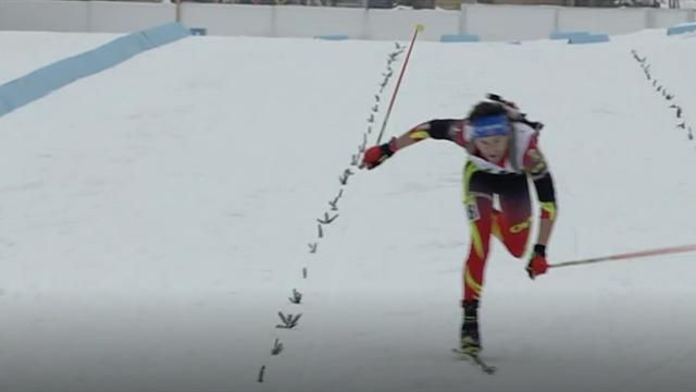 Großes Kämpferherz: Biathlon-Youngster schleppt sich mit einem Ski ins Ziel