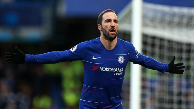 Premier League, Chelsea-Huddersfield: Higuaín se estrena con un doblete (5-0)