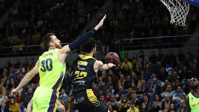 Liga ACB, Tenerife-Barcelona: Tropiezo del líder (63-57)