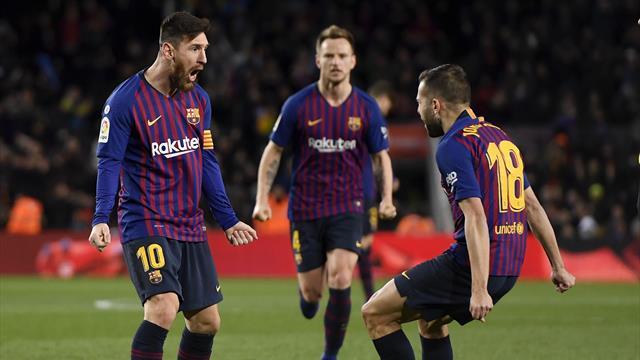 Mené de deux buts, le Barça s'en sort grâce à Messi