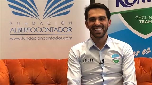 """Alberto Contador habla de su equipo profesional en Eurosport: """"Estamos muy cerca de dar el salto"""""""