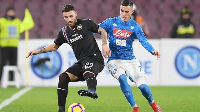 Napoli-Sampdoria: probabili formazioni e statistiche