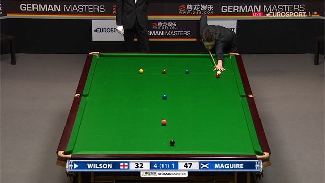 'The great Alex Higgins would have been proud of that!' - Wilson seals frame with sublime clearance