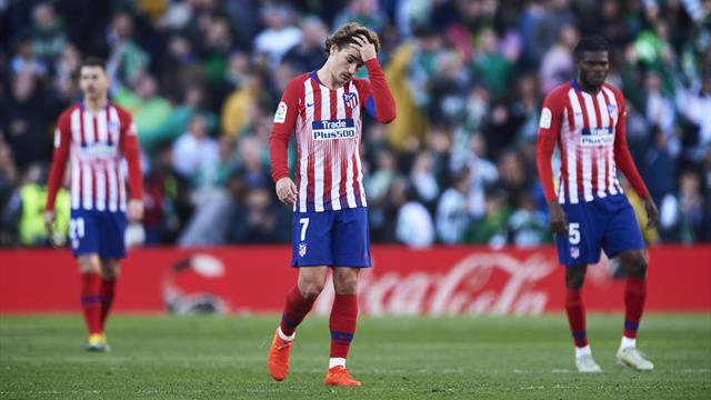 Atletico title bid suffers with defeat at Betis in Morata debut