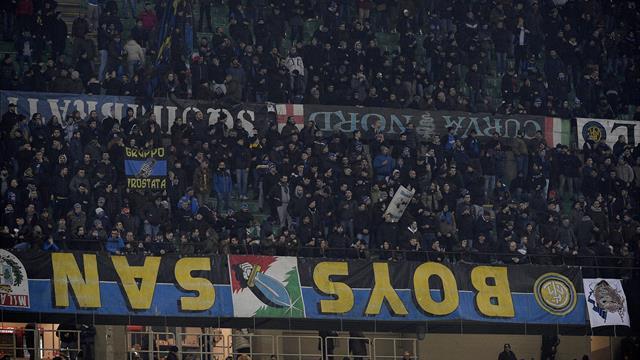 Serie A, i tifosi dell'Inter: