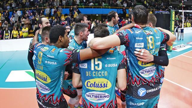 Perugia demolisce Civitanova in gara-3, Block Devils a un passo dallo scudetto!