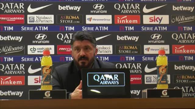 """Gattuso si indispettisce al commento di Salvini su Calhanoglu: """"Altra domanda, prego"""""""