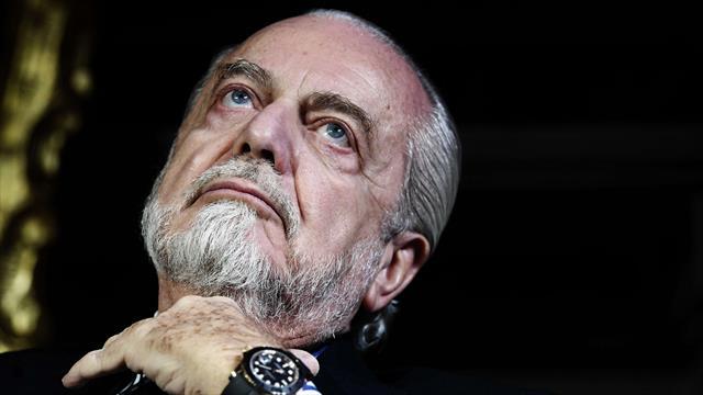 """Napoli-James, la frecciata di De Laurentiis a Florentino Pérez: """"Non parlo con lui"""""""