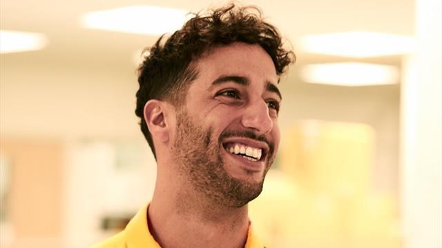 Ricciardo, premières photos avec Renault