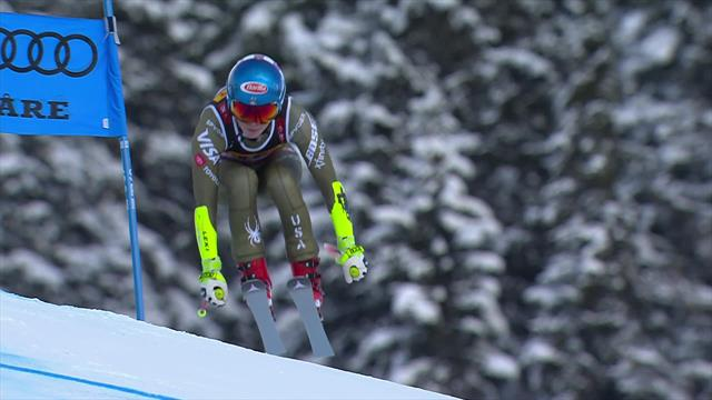 Shiffrin clinches Super-G victory by 0.02secs