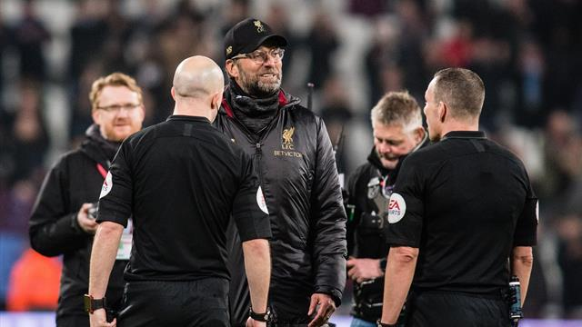 Klopp charged by FA over referee comments in West Ham draw