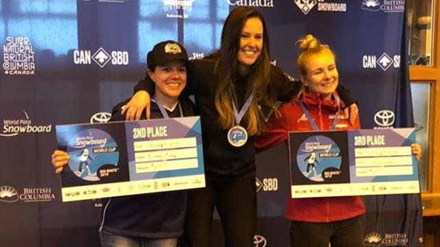 La española Astrid Fina, oro en la Copa del Mundo de snowboard de Canadá