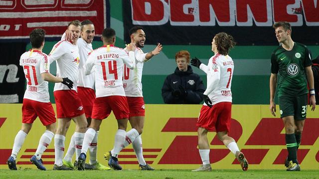 Cunha schießt Leipzig erstmals ins Viertelfinale