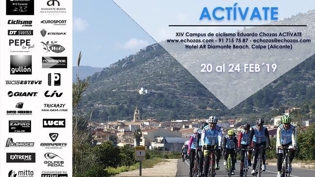 Eduardo Chozas organiza en Calpe (Alicante) la XIV edición del 'Campus de ciclismo Actívate'