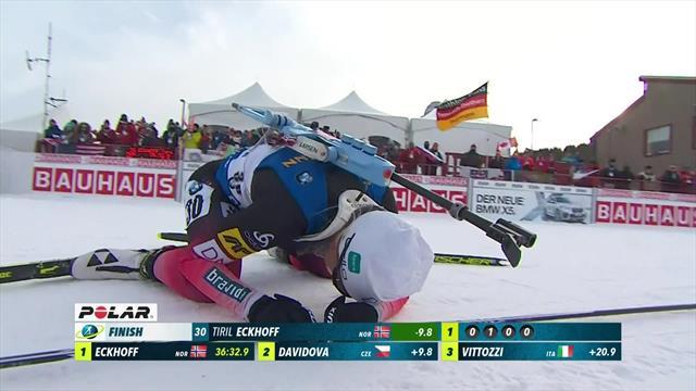 Tolles Finish: Eckhoff schneller als Davidova und Vittozzi