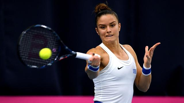 Sakkari slams 'worst ever' line judges after Fed Cup defeat to Konta
