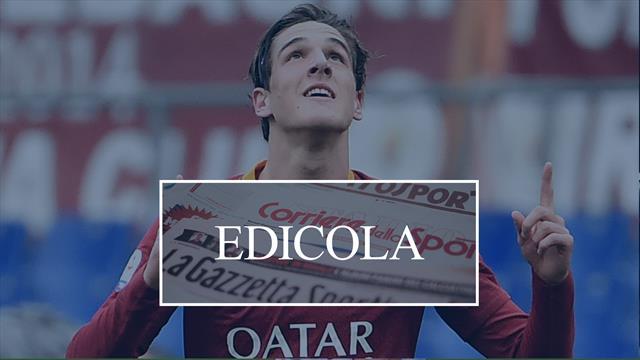 Edicola: Juventus, pronti 40 milioni per strappare Zaniolo alla Roma. Rakitic vuole l'Inter