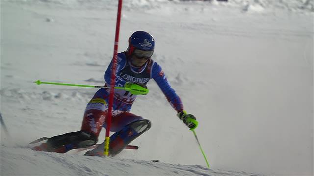 Vlhova piles pressure on Holdener with brilliant Slalom run