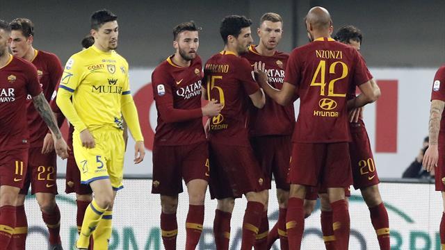 Roma, scatto Champions: Chievo battuto 3-0 e Lazio agganciata al quarto posto