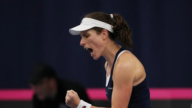 Boulter and Konta send Great Britain into play-off