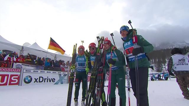 Hermann leads Germany to relay triumph