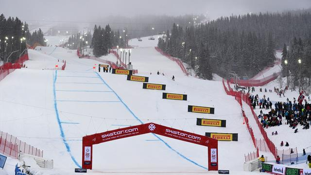 World championships men's downhill start delayed