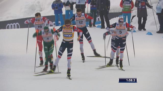 Klaebo clinches win after tight sprint in Lahti
