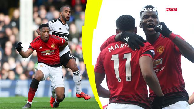 Highlights: Sindssygt Martial-sololøb fra midten og to gange Pogba i flot United sejr over Fulham