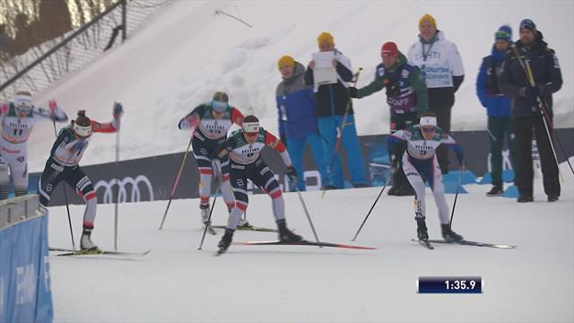 Falla edges tight sprint in Lahti