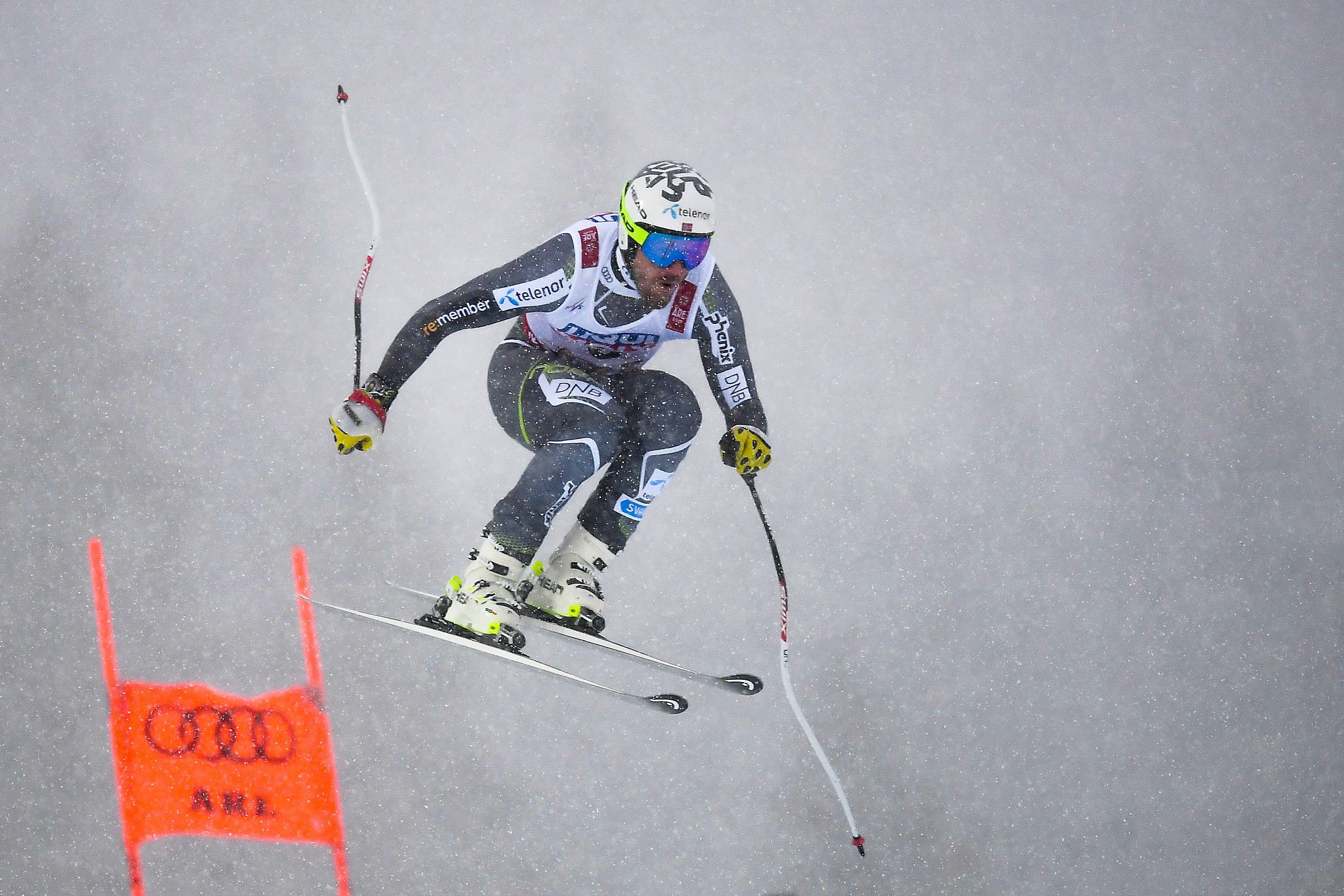 Kjetil Jansrud lors de la descente des Mondiaux 2019