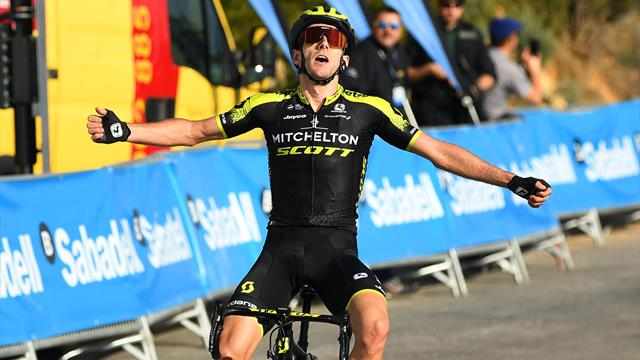 Adam Yates holds off Alejandro Valverde for victory in Valencia