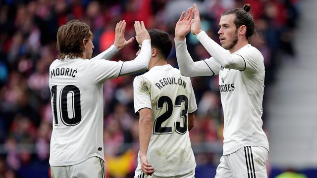 Bale scores 100th Real Madrid goal as win over Atletico sends Los Blancos second