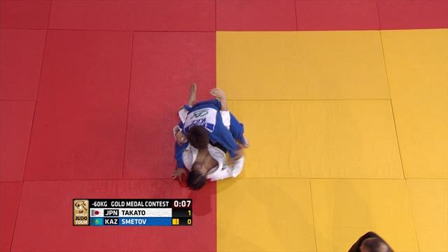 Naohisa beats Smetov wins fourth title at Paris Grand Slam in -60kg category