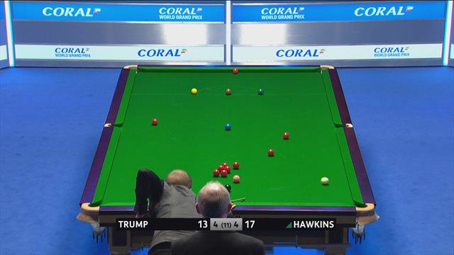 Perfektes Double: Hawkins versenkt lange Rote