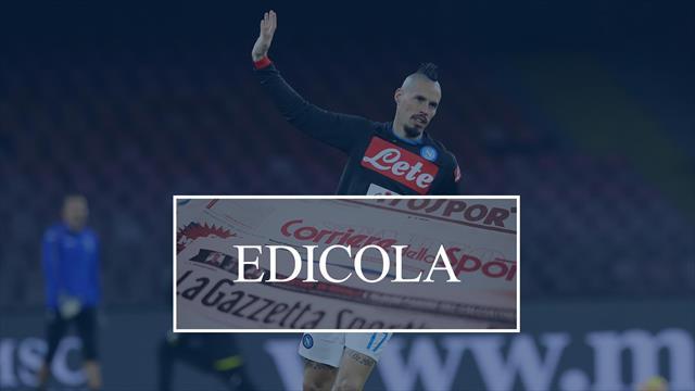 Edicola: Hamsik-Napoli ai titoli di coda, Douglas Costa e Juventus in tensione