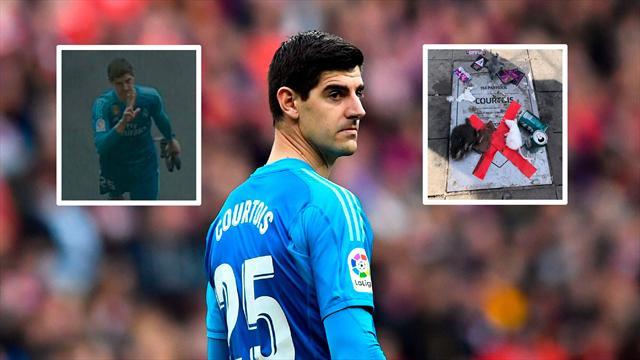 Intrahistorias del derbi: Cuando Courtois llamó al Atlético por la placa y el peto de Morata