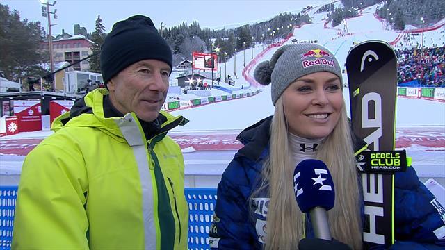 Vonn and Stenmark share legendary interview after her final race