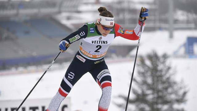 Falla parkert av Dahlqvist på oppløpet i lagsprinten