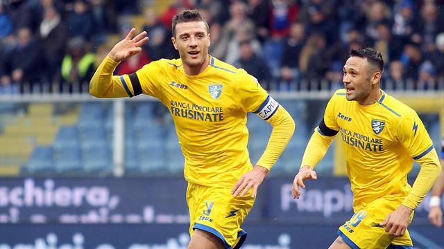 Le pagelle di Sampdoria-Frosinone 0-1: grande prova di Ciofani e Chibsah, Quagliarella a secco