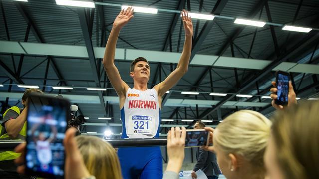 Jakob Ingebrigtsen med nordisk rekord på 1500 meter
