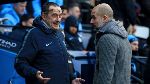 "Sarri n'a pas serré la main de Guardiola : ""Je ne l'ai pas vu"""