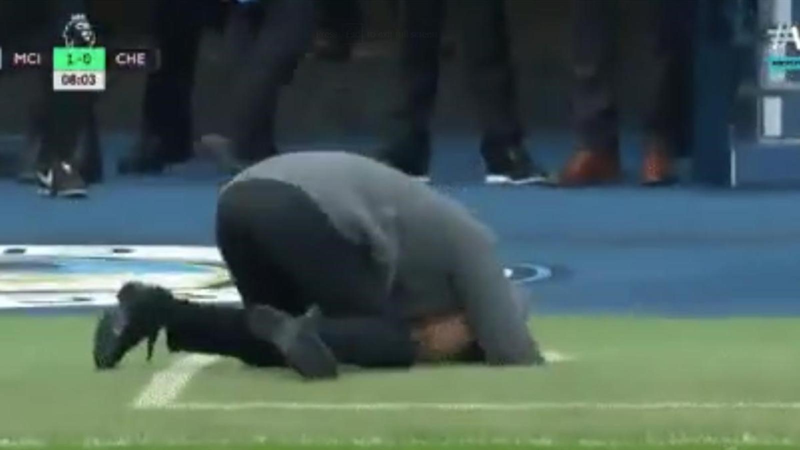 Хосеп Гвардиола едва не забился в конвульсиях после жуткого промаха Серхио Агуэро