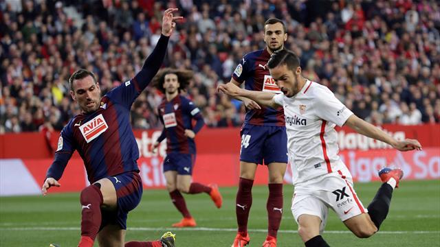 El Sevilla tira de épica para empatar (2-2) contra el Éibar en el añadido